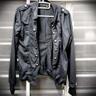 Rock Black Cotton Jacket