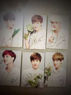 EXO NATURE REPUBLIC Autograph limited edition cards