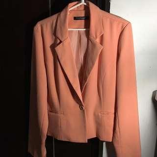 Philosophy Woman Orange Peach Blazer