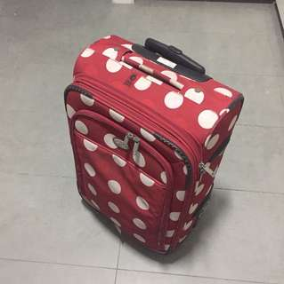 Carry on luggage small bag red color