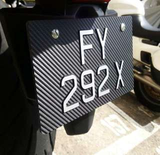 Carbon based bike plate 3D