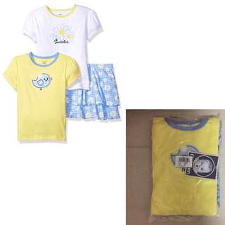 SALE 60% Off - 3-6 Mths BNWT Gerber baby girls 3pc set (2x shortsleeve tee, 1 skort)
