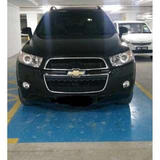 CHEVROLET CAPTIVA 2.4 A PETROL FULL SPEC. 7 seater. 2011.  3 digit number plate.