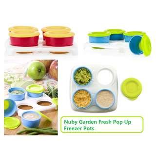 Nuby Garden Fresh Freezer Pots (4x60ml)
