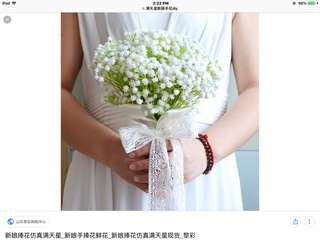 Baby Breath Hand Bouquet - wedding flower