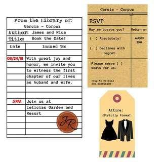 Library themed invites #wedding #debut #bohemian #dainty #minimalist #rustic