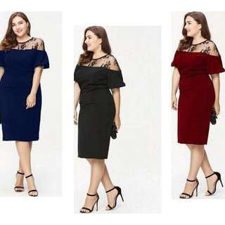 🍃Mesh Upper Plus Size Formal Dress