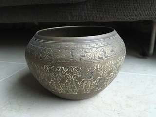 黃銅手工打造碗 Brass carved bowl antique handicraft handmade art