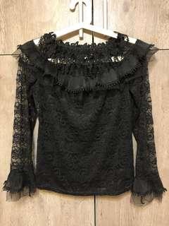 黑色蕾絲長袖🖤