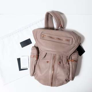 ALEXANDER WANG MARTI BACKPACK IN LATTE WITH ROSE GOLD