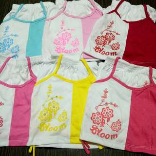 Cotton terno for babies 3-12mons