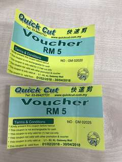 FREE ! Hair cut voucher