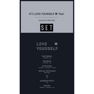 [PREORDER] [SET] BTS 방탄소년단 - LOVE YOURSELF 轉 'TEAR'
