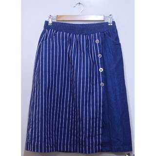 Front Slit Denim A-line Skirt (UNUSED)