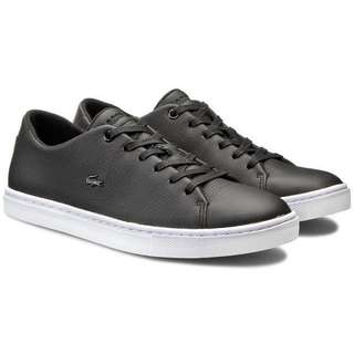 Authentic Lacoste women's showcourt lace up sneaker shoes black REPRICED