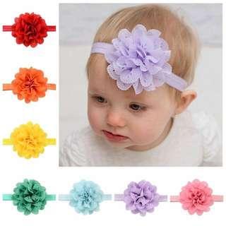 Instock - chiffon headband, baby infant toddler girl children cute chubby 123456789 lalalalala