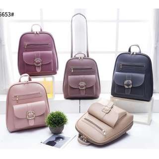 3 ways Korean Fashion Backpack 13 inches Pink