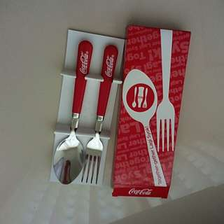 Coca-cola cutlery set