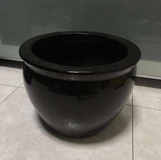 (SALE) Black ceramic pot