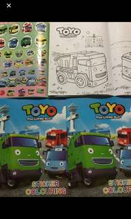 Update** left 2books now!! Instock Tayo the little bus Coloring And Stickers Book ..