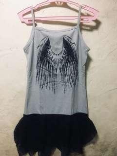 Gray sando dress for girls