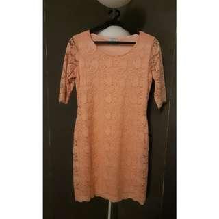 Quarter Sleeve Sheath Lace Dress