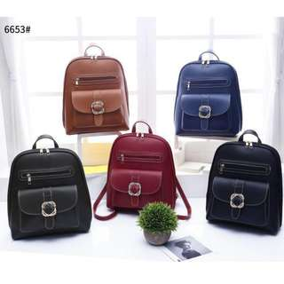 3 ways Korean Fashion Backpack 13 inches Black