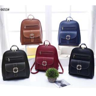 3 ways Korean Fashion Backpack 13 inches Blue