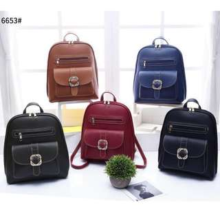 3 ways Korean Fashion Backpack 13 inches Brown