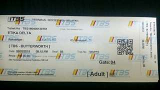 TIKET BAS ( TBS - BUTTERWORTH )
