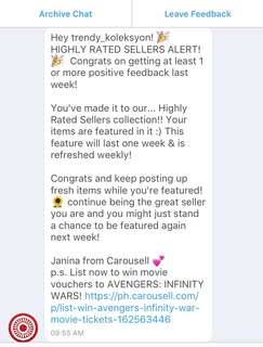 2nd time... Thank you Carousell 😍💋