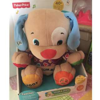 Fisher Price Laugh and Learn Puppy Dog Plush Talks Sings