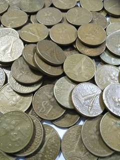 Old Malaysia coins  300pc xS$0.50¢