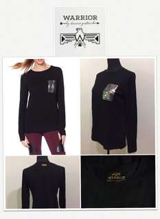 Warrior By Danica Patrick Black Long Shirt With Sequined Pocket