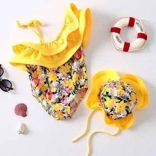 Summer swimwear w/ hat