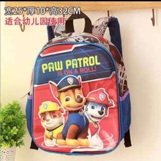 PO Paw Patrol bag ht 32cm Brand New