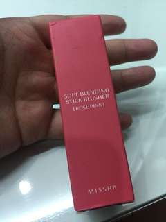 Missha stick brusher (shade:rose pink)
