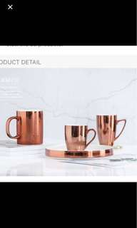 Coffee Cup In Rose Gold