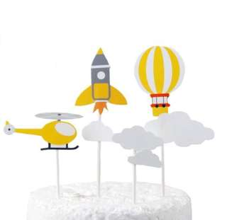 Air transport cake topper