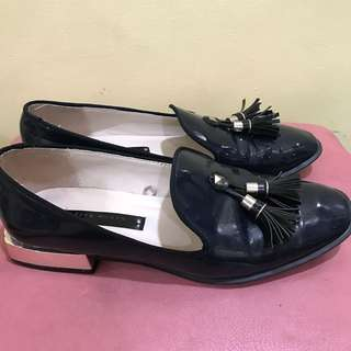 Zara Woman Dark Blue Loafers Size 6 23.5cm insole