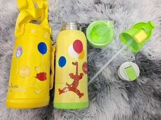 BN Pooh Bear Stainless Steel Thermal Water Bottle