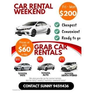 Car Rental (Grab/Normal)