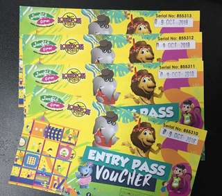 Four Jungle Gym Entrance Tickets