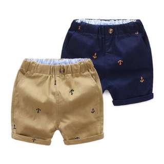 Baby anchor elastic waist shorts