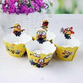 Minion Cupcake deco