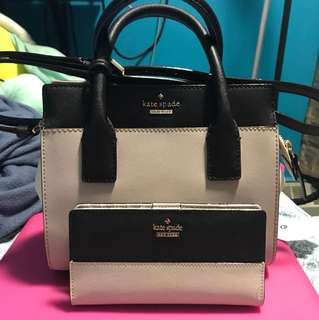 Kate Spade Mini Candace and Stacy wallet set