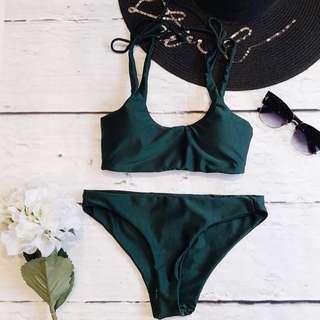 Soak Swimwear Green Bikini