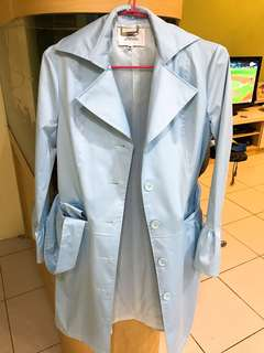 🚚 初春推薦🌿淺藍緞面風衣
