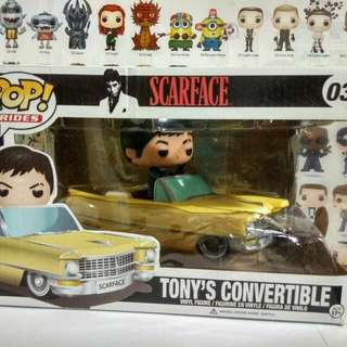 * Damaged Box Clearance Sale * Funko Pop Ride Tony's Convertible Vinyl Figure Collectible Toy Gift Movie Scarface
