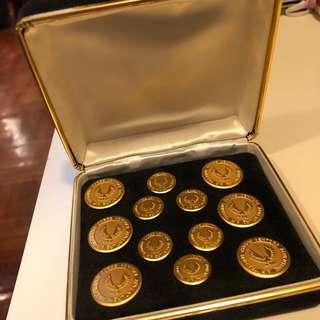 🔱古董金色鈕扣set🔱